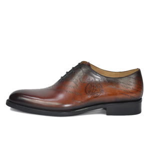 Image 3 - שמלת נעלי גברים עור אמיתי בציר רטרו Custom בלייק בעבודת יד משרד אופנה רשמי חתונה מסיבת נעלי אוקספורד