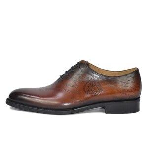 Image 3 - Dress Shoe Men Genuine Leather Vintage Retro Custom Blake Handmade Office Fashion Formal Wedding Party Oxford Shoes