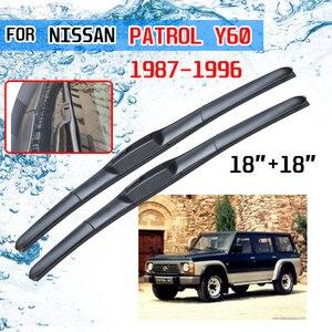Image 1 - Für Patrol Y60 1987 1988 1989 1990 1991 1992 1993 1994 1995 1996 Zubehör Auto Frontscheibe Wischer Klingen Pinsel cutter