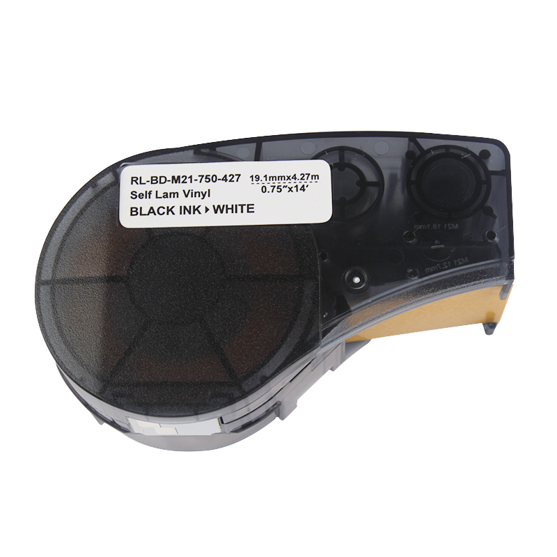 Compatible For Brady M21-750-427 Cloth Label Tape High Adhesion Black On White Nylon BMP21 Plus And LABPAL Label Tape