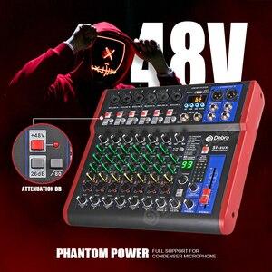 Image 5 - Debra Pro 8 canal DJ regulada con 99DSP Efecto Reverb Bluetooth 5,0 USB de karaoke USB para PC micrófono grabación condensador
