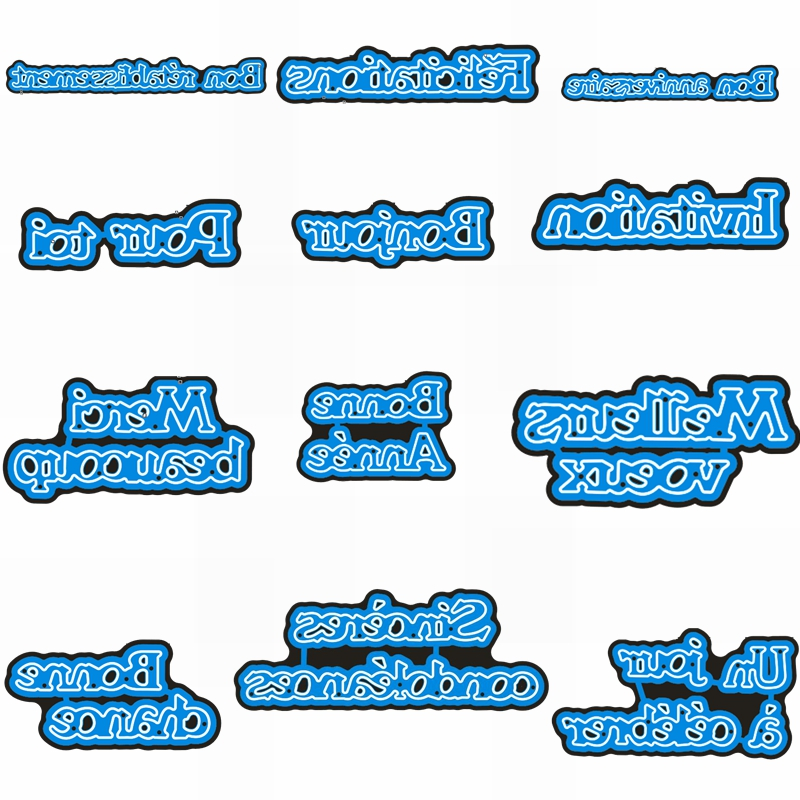 Bonne Chance  Félicitations French Wishing Words Phrase Metal Cutting Dies Stencil For DIY Scrapbooking Craft Cards 2019 New