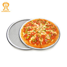 Nova alta qualidade 6 a 22 polegada de alumínio sem costura malha pizza pan cozimento tela redonda metal pizza ferramenta forno acessórios assar ware