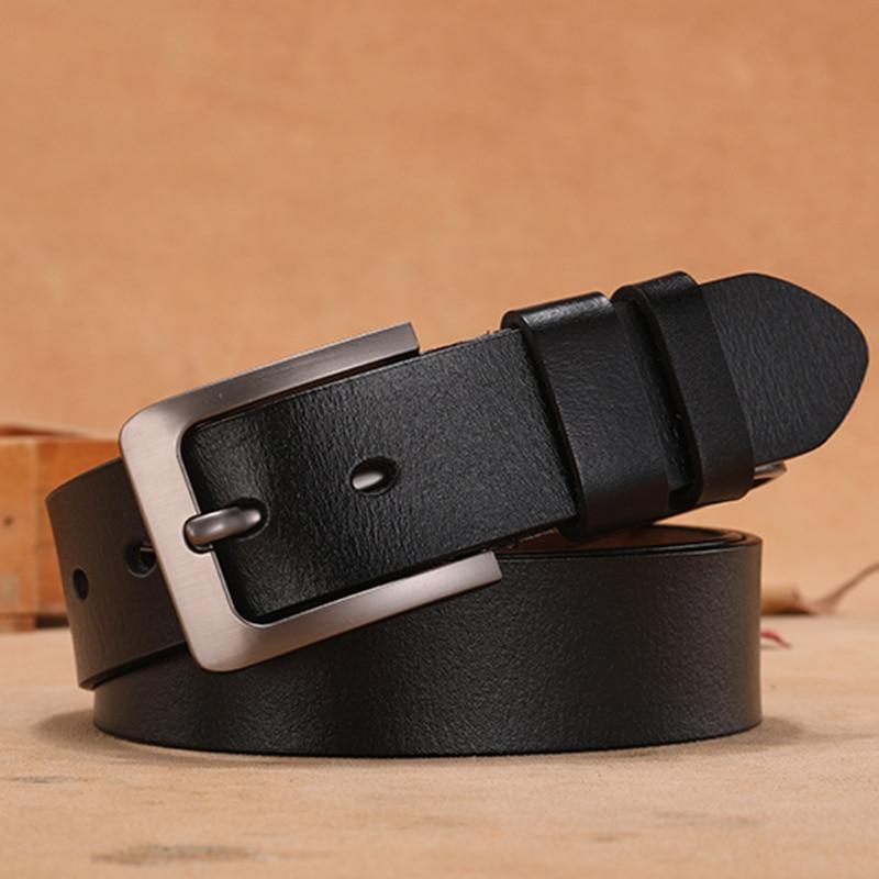 140cm Large Size Women Genuine Leather Belt Retro Pin Buckle Lengthen Leisure Female Designer Belts Luxury Brands Long Belt 2020