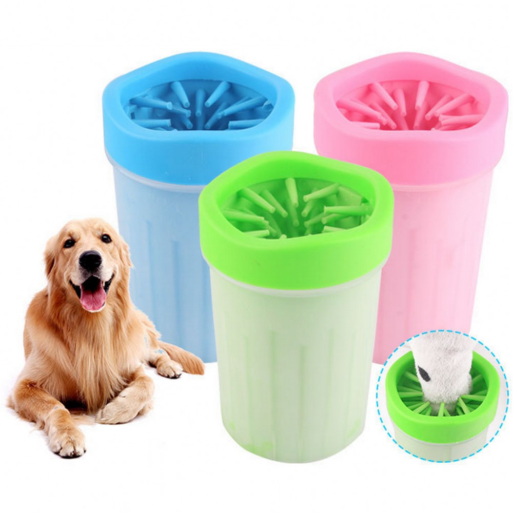 S L Dog Paw Cleaner Cup Soft Portable Small Or Large Dogs Paw Cleaning Cup For Pet Feet Washer Pet Cat Foot Wash Tool Supplies