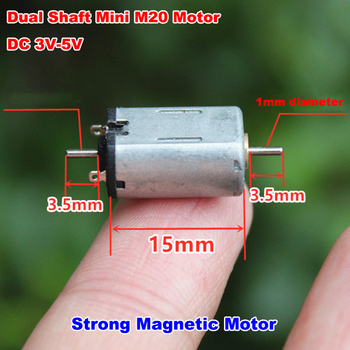 Dual Shaft FF-M20 DC 3V-5V 3.7V 10000RPM High Speed Micro Mini 8mm*10mm Strong Magnet Electric Motor Engine RC Toy Car Model image