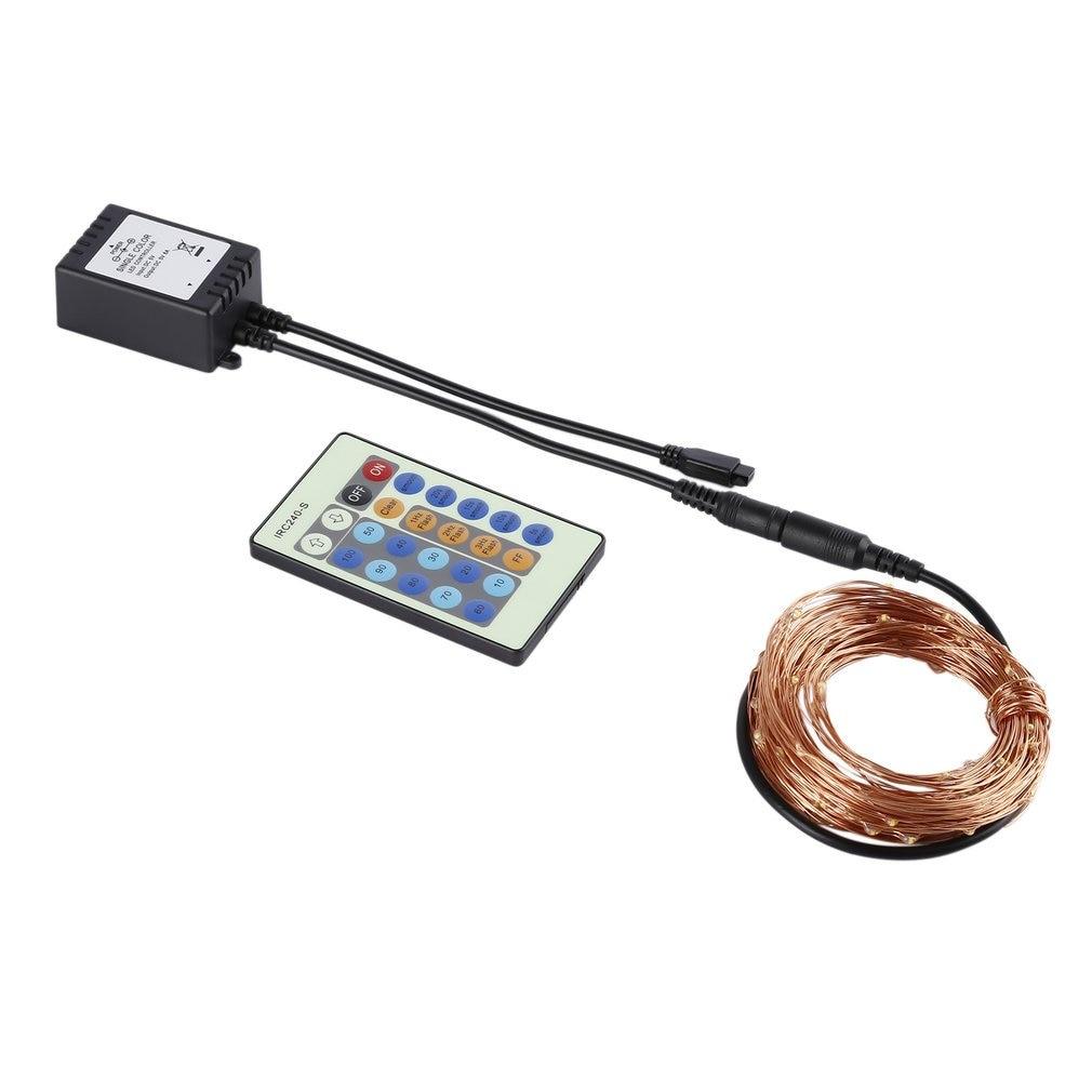100 LED 10m lumière LED chaîne DC Plug Application dans la décoration de noël entreprise artisanat cadeaux décoration de jardin
