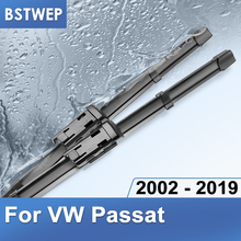 BSTWEP Windscreen Wiper Blades for Volkswagen VW Passat B5 B6 B7 B8 Fit Side Pin Push Button Arm Model Year from 2002 to 2019 cheap ISO9001 Natural rubber 0 35kg Clean the windshield