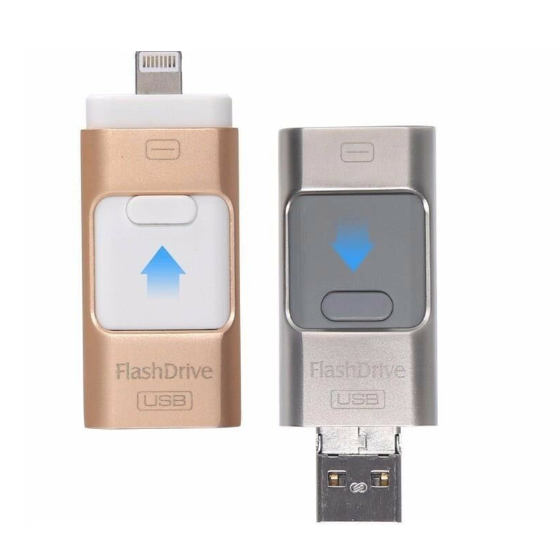 Otg Usb Flash Drive For IPhone Series Pen Drive 128gb 64gb Android Otg Pendrive For Xiao Huawei  3 In 1 Hd Memoria Stick Usb 3.0