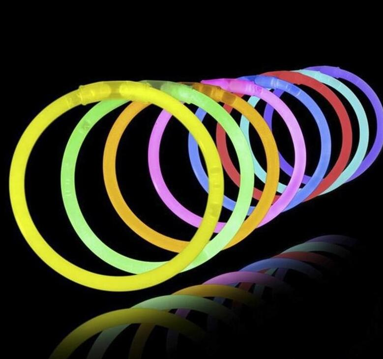 Multi Color Glow Stick Light Bracelets For Party Hot Dance Christmas Decoration Accessory Kids Gifts Toys Free Shipping