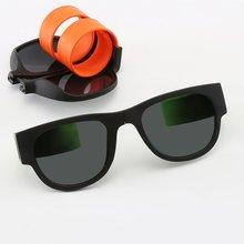 Складные солнцезащитные очки для верховой езды с кольцом-защелкой, солнцезащитные очки для мужчин, складные солнцезащитные очки с браслетом