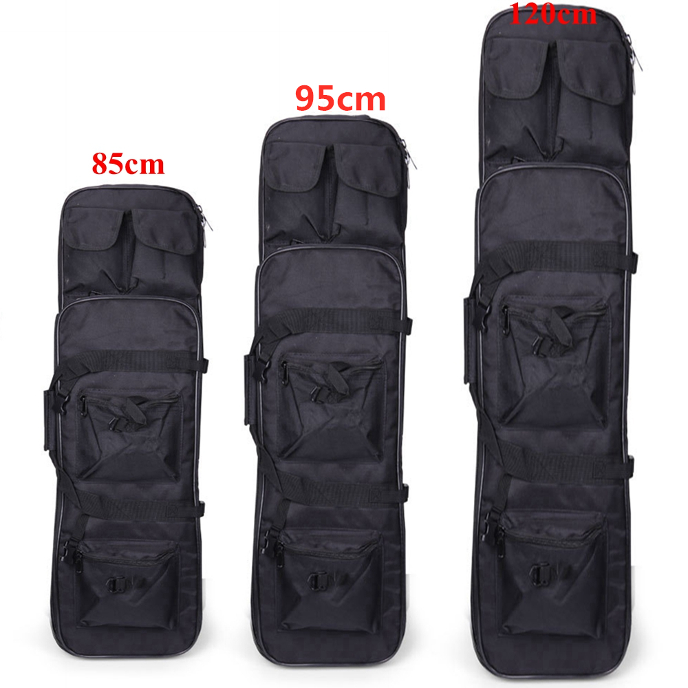 Tactical Hunting Rifle Cace 85cm 100cm 120cm Military Outdoor Nylon Bag Double Carbine Gun Cace Backpack Shooting Air Rifle Bags