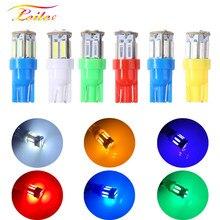 10 pces t10 7014 7020 10 smd 194 168 w5w conduziu a lâmpada luz de folga luz da placa de licença lâmpada led luzes de largura 10 leds 12v