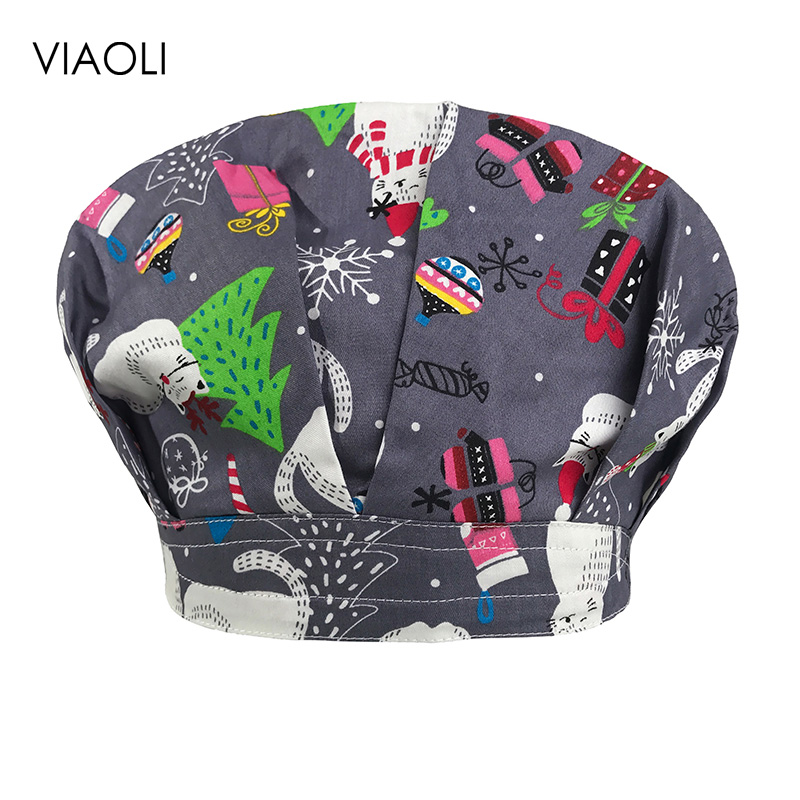 VIAOLI Men Women Medical Scrubs Pharmacy Work Cap Surgery Nurse Hat Oral Cavity Dental Clinic Pet Veterinary Surgical Cap160