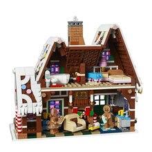 Neue Exclusives Lebkuchen Haus Gebäude Block Mit Action Figure Kompatibel Lepining Idee Creator Sets Spielzeug Für Kinder 10267