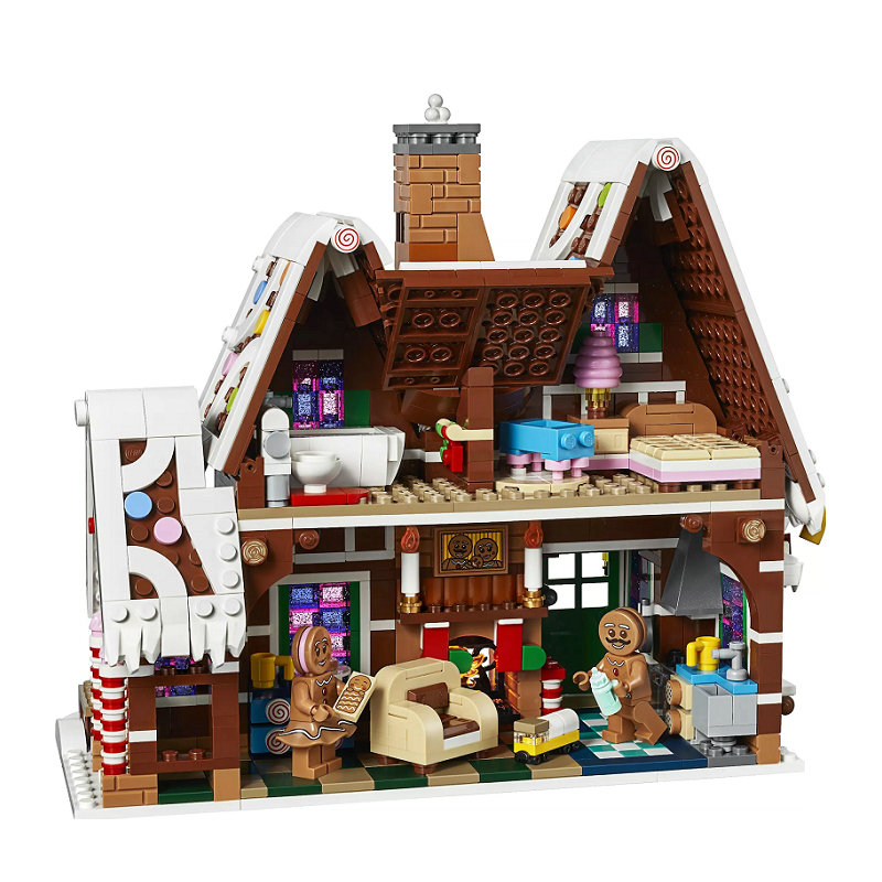 New Exclusives Gingerbread House Building Block With Action Figures Compatible LegoINGlys Creator Sets Toys For Children 10267