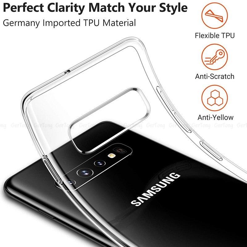 Transprent Case For Samsung Galaxy S10 Plus HD Clear Soft TPU Phone Cases For Samsung Galaxy S10e S10 E S 10+ S 10e Cover Capa