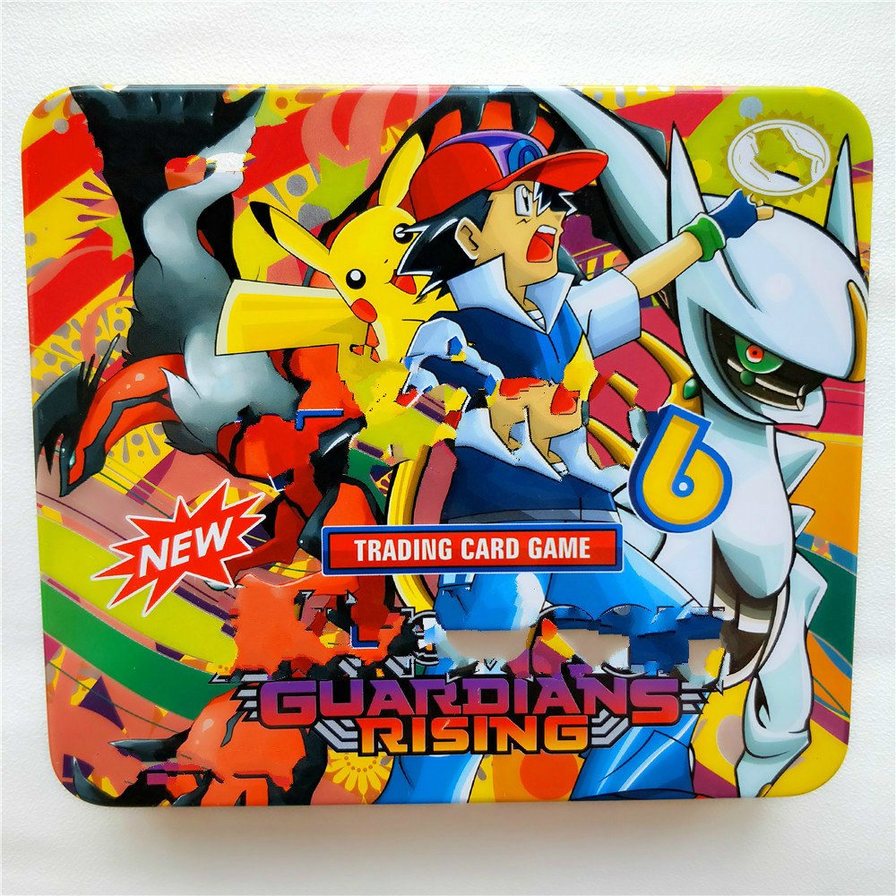 2019 New 46pcs/set Pokemon Portable Tin Box Battle Toys Hobbies Hobby Collectibles Game Collection Anime Cards For Children