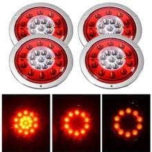 4 шт круглый 19 светодиодный задний стоп-светильник задний тормоз Поворотная сигнальная лампа прицеп грузовик фургон