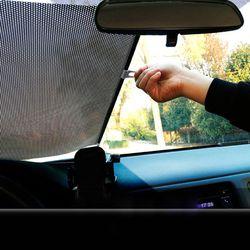 Chowany przednia szyba samochodu daszek parasol przeciwsłoneczny Auto tył przód boku rolety parasol przeciwsłoneczny s anty UV parasol przeciwsłoneczny s 40x60cm w Osłony przeciwsłoneczne na szyby od Samochody i motocykle na