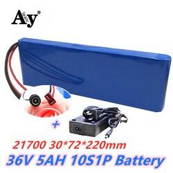 Akumulator litowo-jonowy 36V 10S1P 5Ah akumulator 250W akumulator o dużej mocy 42V 5000mAh Ebike rower elektryczny z BMS