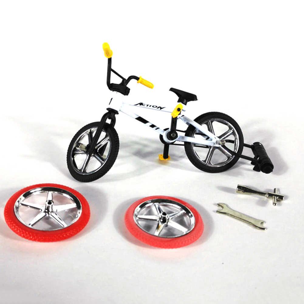 Mini Bike Speelgoed Legering BMX Vinger Fiets Model Fiets Fans Kids Kinderen Speelgoed Cadeau Decoratie pretnieuwigheid fiets geschenken Willekeurige kleur
