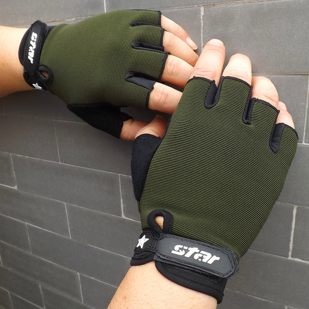 9s Men Antiskid Cycling Bike Fitness Sports Half Finger Gloves 2020 Newest @9