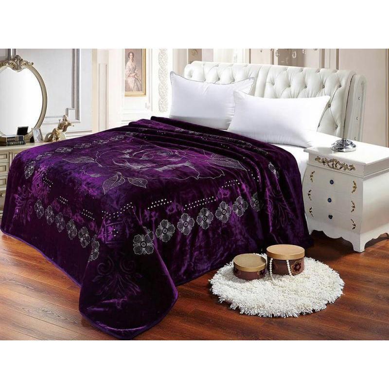 Plaid Euro Tango, Scheherazade, 200*220 cm, purple цена и фото
