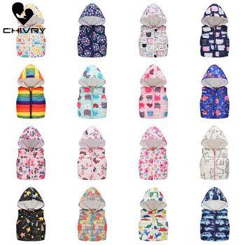 2020 Autumn Winter New Boys Girls Sleeveless Hooded Wool Vest Jacket Cartoon Print Coat Kids Warm Cashmere Vest Outwear Clothes цена 2017