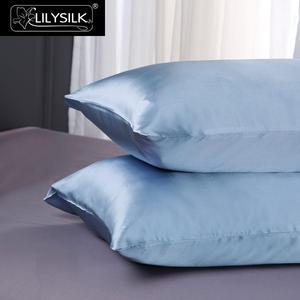 Image 4 - Lilysilk 100 funda de Almohada de Seda Pura Belleza Natural Chino Pelo de Lujo 19 Momme Mulberry Azul 40x60 cm Rey Reina largo 1 unidades
