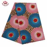 2019 Ankara African Polyester Wax Prints Fabric Binta Real Wax High Quality 6 yard African Fabric for Party Dress PL536
