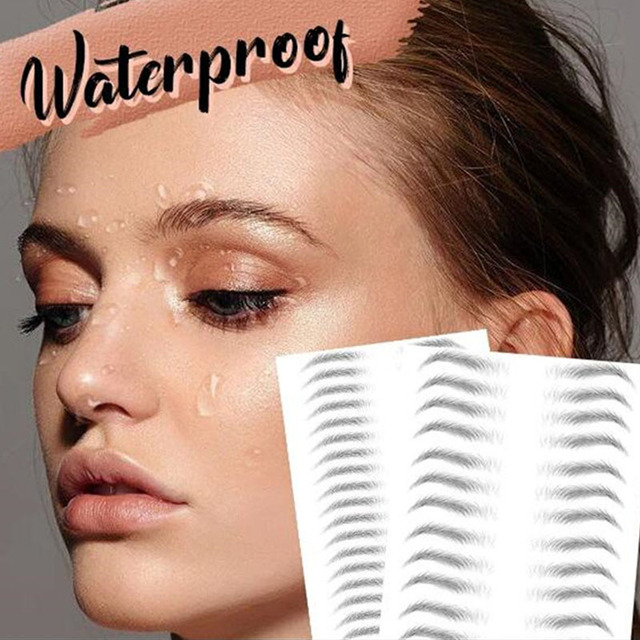 4D Hair-like Eyebrows Waterproof Water Transfer Stickers Makeup Eyebrow Tattoo Sticker Lasting False Eyebrow Patch Stickers 1