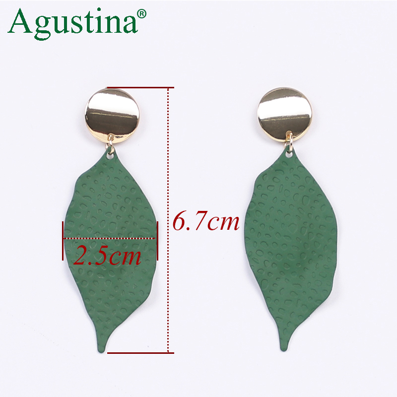H9df40dfbcbd540f292aef6b2d3e864b2H - Agustina 2020 Fashion Earrings Jewelry Women Bohemian Metal Drop Earrings Cute Red/Pink/Blue Earrings Statement Korean Wholesale