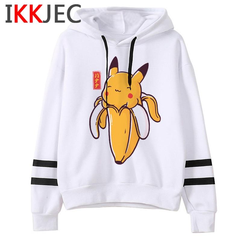 Pokemon Go Funny Cartoon Warm Hoodies Men/women Cute Pikachu Japanese Anime Sweatshirts Fashion 90s Steetwear Hoody Male/female 8
