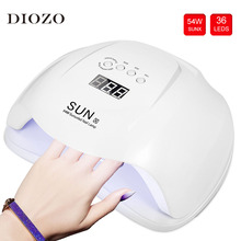 SUN X 54W Led UV Lamp Nail Dryer With 4 Timer Setting 36 Leds Nail Lamp With Anti UV Gloves Gift UV Lamp Led Nail Manicure Tools