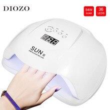 SUN X 54W Led UV lampa do suszenia paznokci z 4 zegar ustawienie 36 diod Led lampa do paznokci z anty uv rękawiczki prezent lampa UV Led narzędzia do Manicure