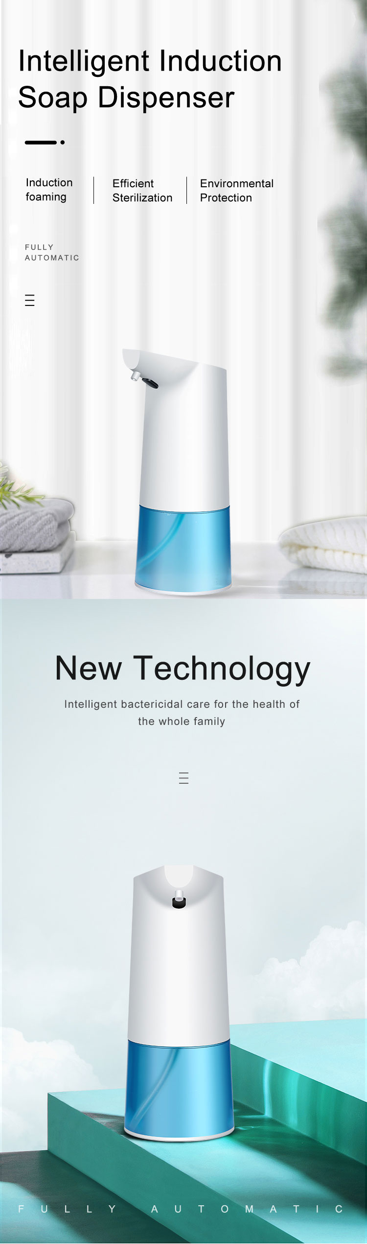 Touchless Bathroom Dispenser Smart Sensor Liquid Soap Dispenser