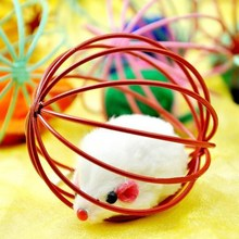 1pcs Funny Cat Toy Mouse Ball  Hollow Ball Feather Mouse Toys Mouse Soft Cute Plush Toys for Cat Pet Cat Training Toy Sent все цены