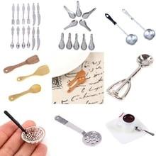 1:12 Dollhouse Miniature Mini Different Kinds Shovel Soup Spoon Kitchen Tool Utensils For Dollhouse Decoration