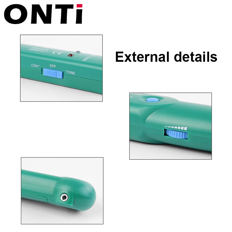 ONTi Professional LAN Network Cable Tester for UTP STP Cat5 Cat6 Telephone Phone Wire Tracker Tracer Line Finder 6
