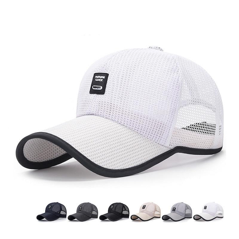 New Brand Women Men Baseball Cap Summer Dad Mesh Fishing Hat Female Male Trucker Hat For Women Men Dropshipping