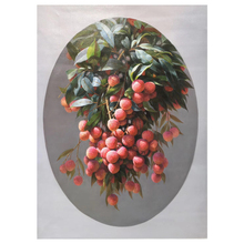 100% Hand Painted Realistic Litchi Art Oil Painting On Canvas Wall Adornment Picture For Live Room Home Decor