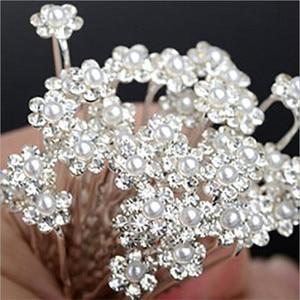 20 pcs/pack Wedding Bridal Pearl Hair Pins Flower Crystal Hair Clips Bridesmaid Hair Jewelry Accessories hairpin Wholesale