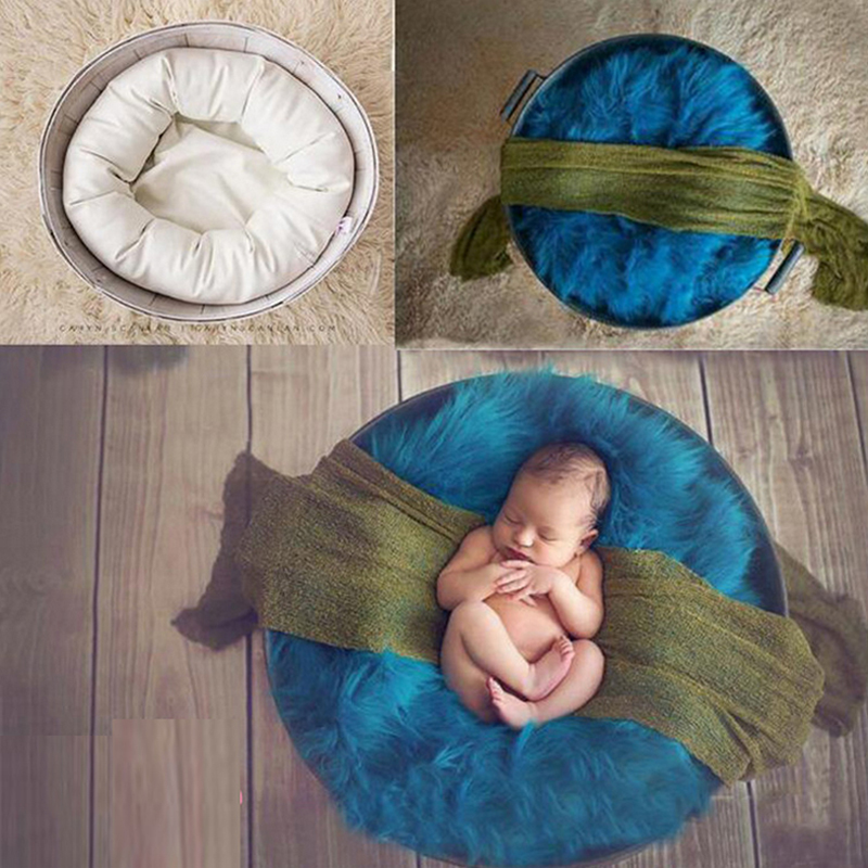 Photography Pillows Sets + 1pc Wrap Blanket Newborn Photography Props Wrapping Solid Color Newborn Photography Aid For Studio
