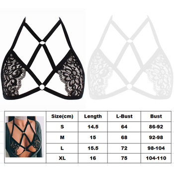 Sexy Women Lace Bandage Bralette Halter Neck Strappy Bra For Lady Lingerie Top Underwear lace overlay halter bralette