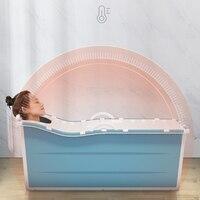Adult Folding Bathtub Portable Bath Bucket Collapsible Large Thick Bath Tub Whole Body Bathing plastic folding adult tub