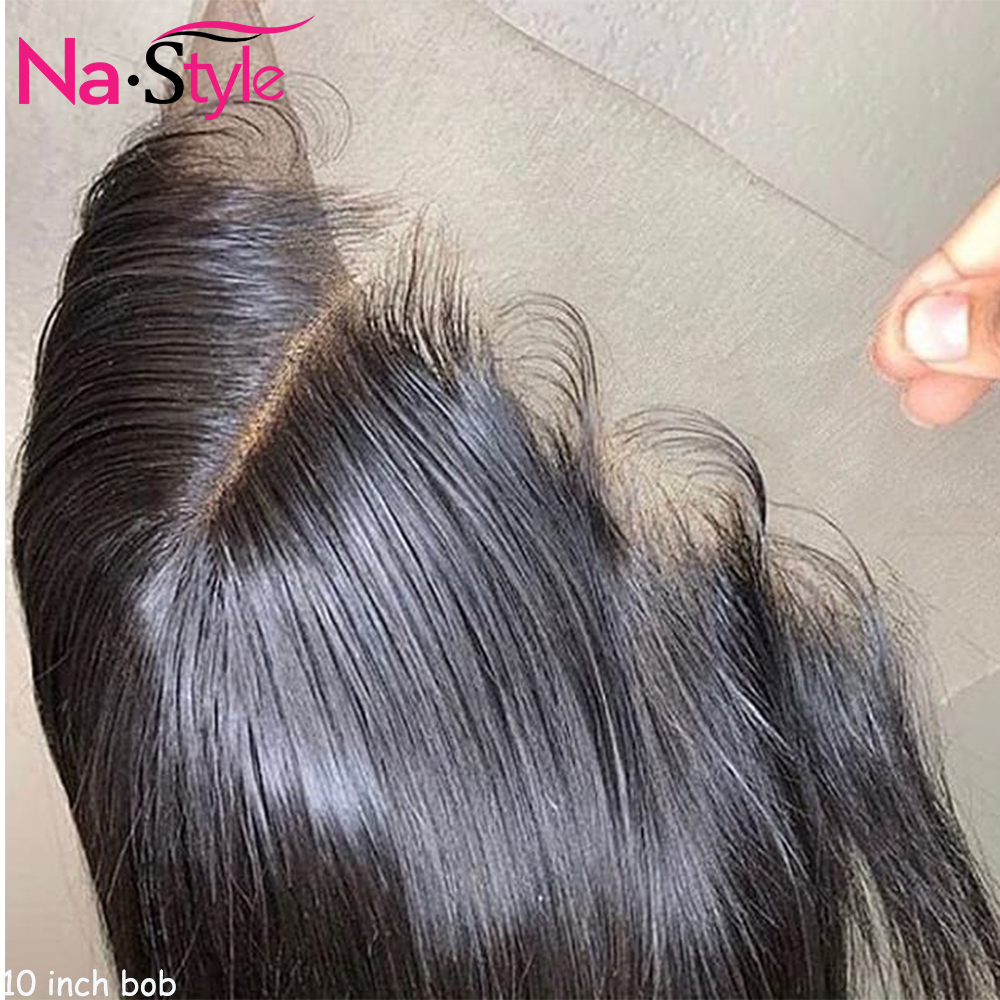 360 Lace Frontal Wig For Black Women Short Bob Human Hair Wigs Pixie Cut PrePlucked Bleached Knots Transparent Lace Wig 130 Remy