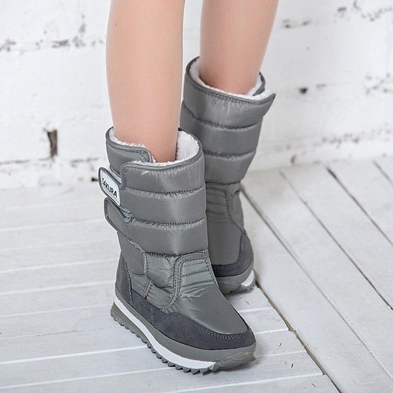 Schnee stiefel Frauen 2019 winter stiefel frauen wasserdichte schuhe non-slip Plattform stiefel frauen schuhe bottes femme booties Botas mujer