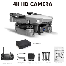 4K HD Dual Wide Angle Camera Aerial Photography Remote Control Helicopter WIFI FPV Folding Drone Long Endurance Quadcopter Toy