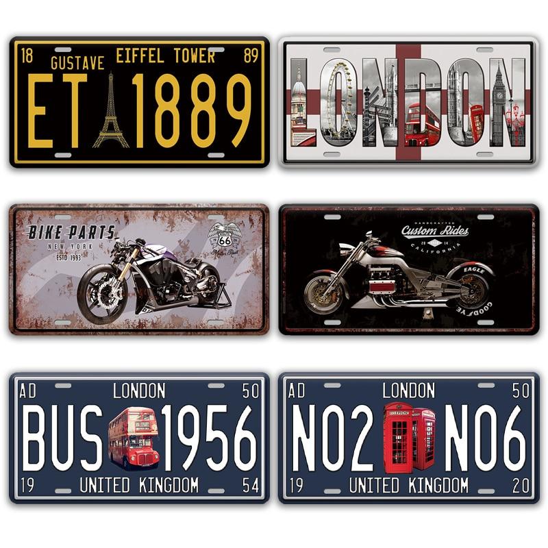 The Beatles License Plate Wall Decor Metal Sign Vintage Home Decor Tin UK